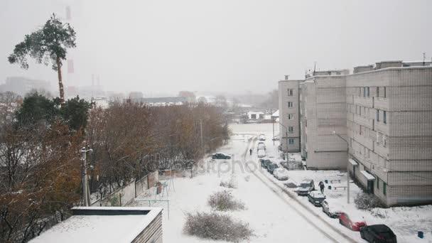 Ruské živé čtvrti - zimní zasněžené zahradě Průmyslová krajina