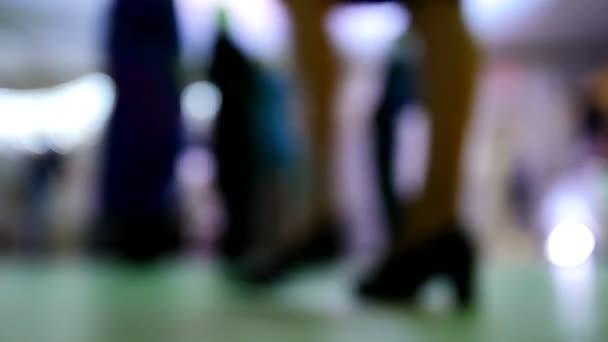 Funny disco party - dancing people in club, de-focused