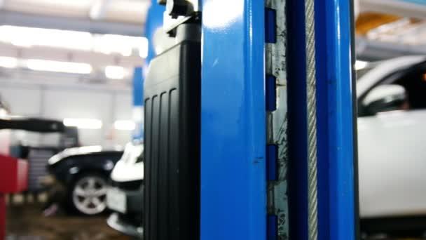 Modré auto zvedák - automobilové služby, slider