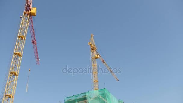 Pracovní jeřábu na staveništi, Časosběr