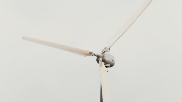 Wind turbine - wind generator close up, eco power