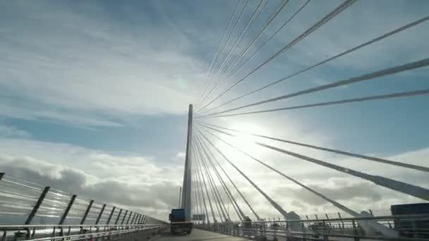 Queensferry Crossing most u zálivu Firth of Forth, Skotsko, Velká Británie