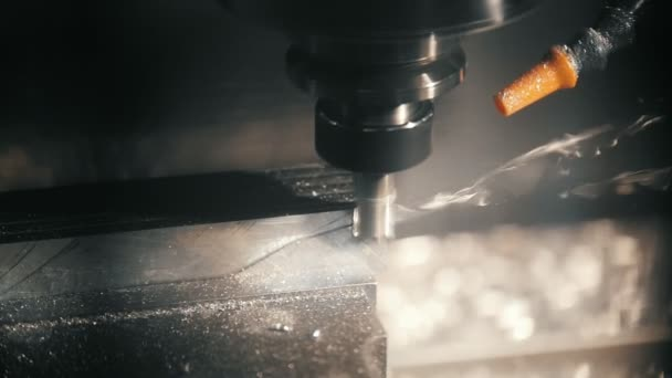 Lathe cuts and handles metal detail, removes chips from metal parts