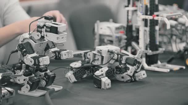 Robotics, robotic technology, robots animals are moving