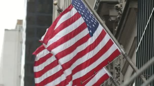 United States flags waving in the wind