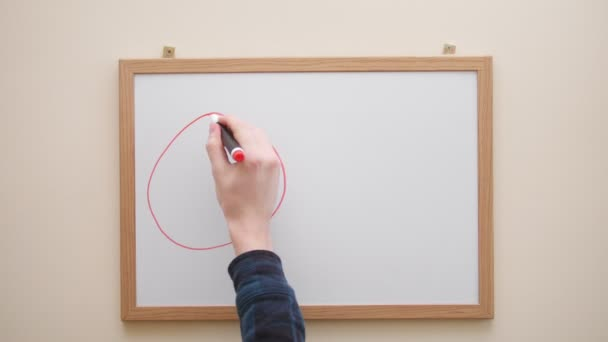 Hand with marker writing and erasing inscription symbols Time is money on white board