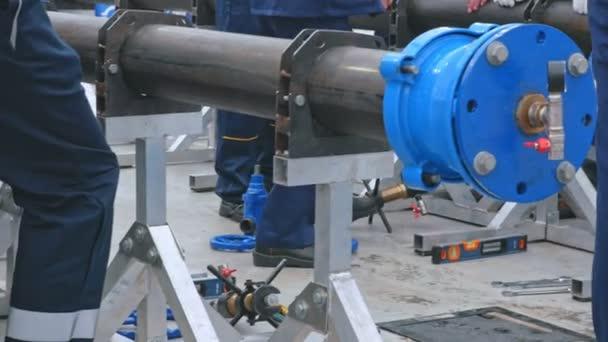 Průmyslové kovové konstrukce vodního napájecího systému
