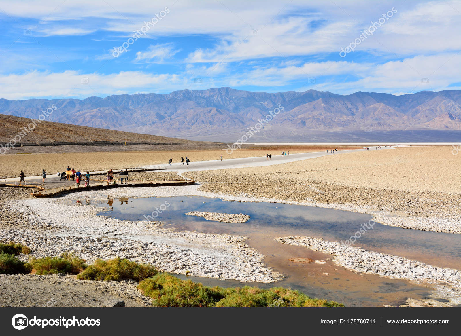 badwater basin at elevation of 85 5 meters below sea level in