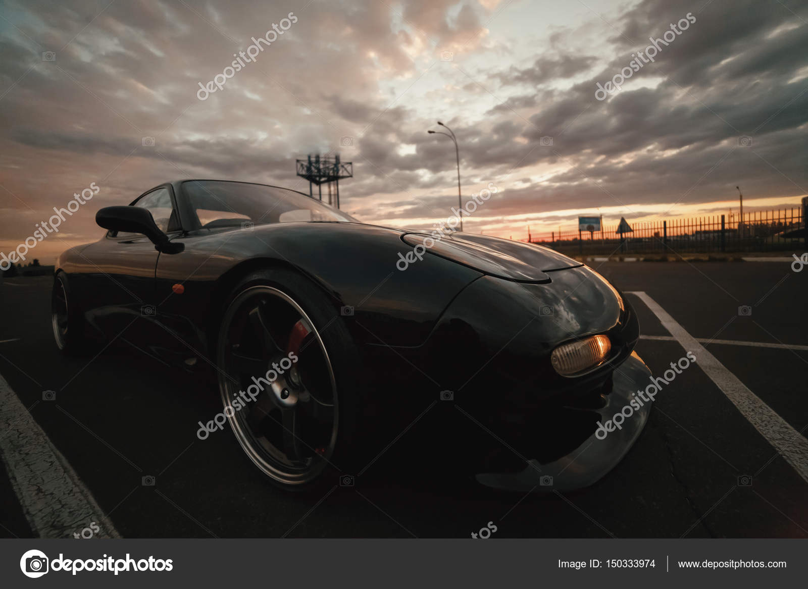 Classic Japan Sport Car On Sunset U2014 Photo By ToL_U4F