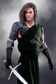 Romantický skotský válečník nosí amor a nosil meč