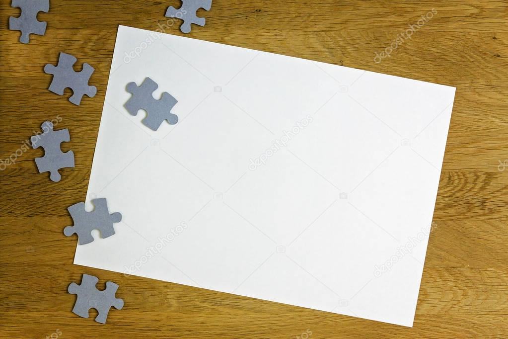 Puzzle strip of paper