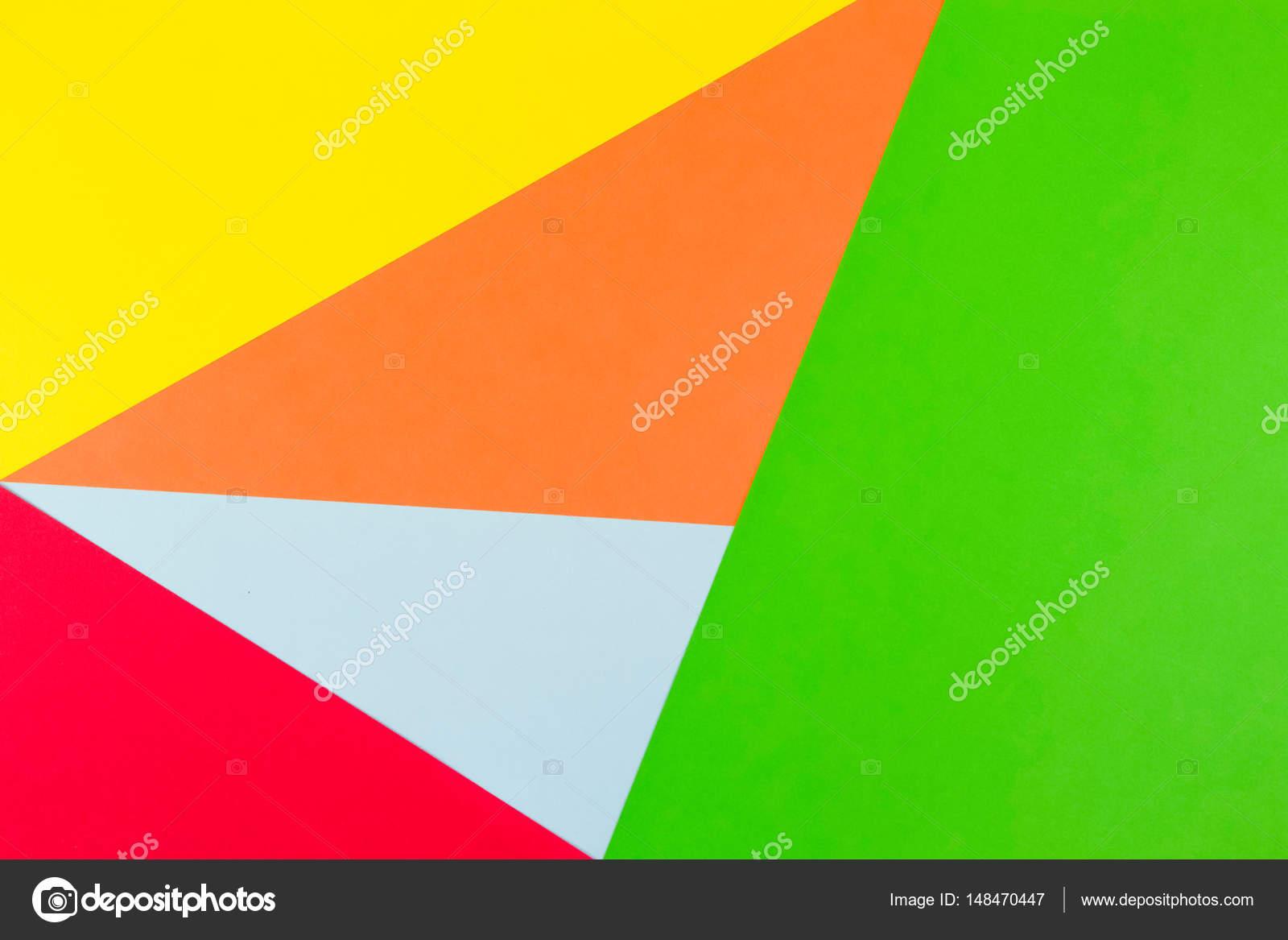 Fond de papier de couleur jaune, rouge, vert, bleu et orange ...