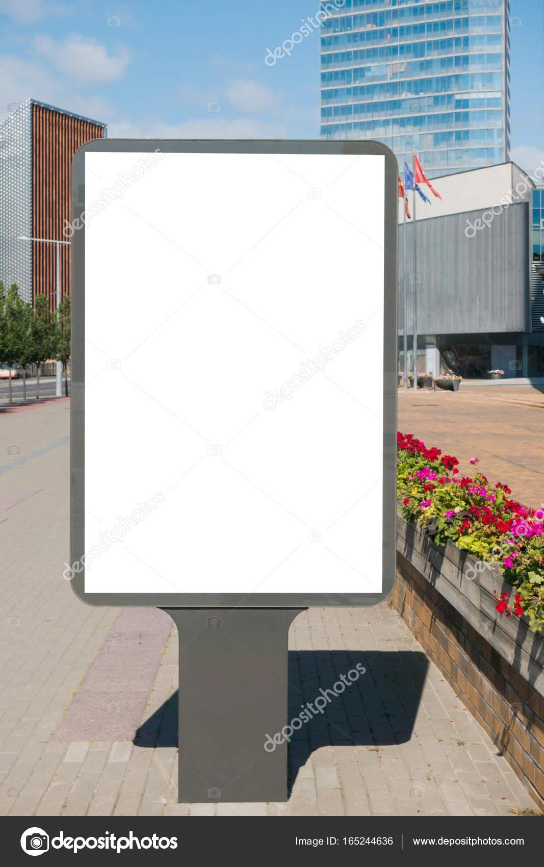 Mock Up Leeren Plakatwand Im Freien Außenwerbung öffentlichen