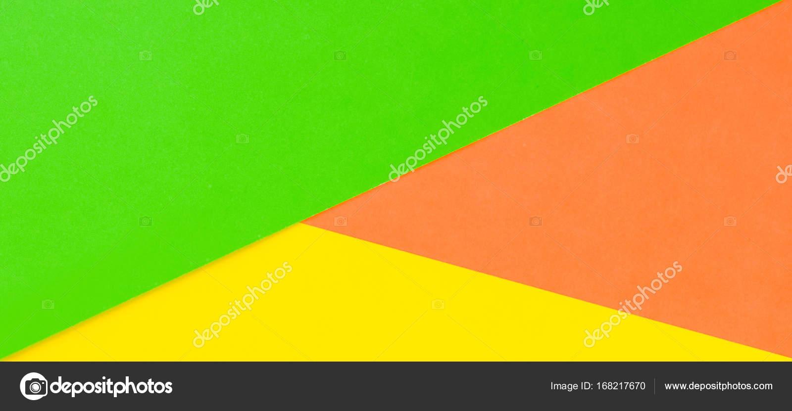 Fond de couleur jaune, vert et orange papier bannière — Photographie ...