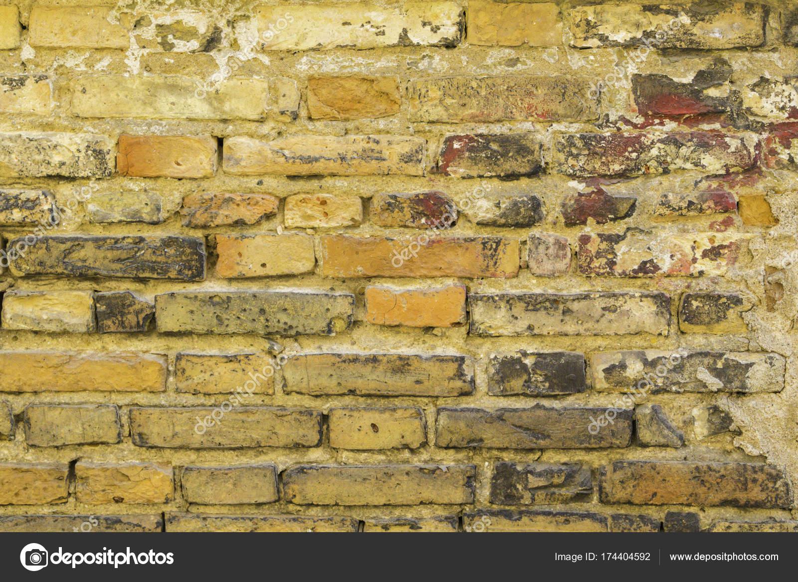 Sfondo Del Vecchio Muro Di Mattoni Sporchi D Epoca Con Peeling