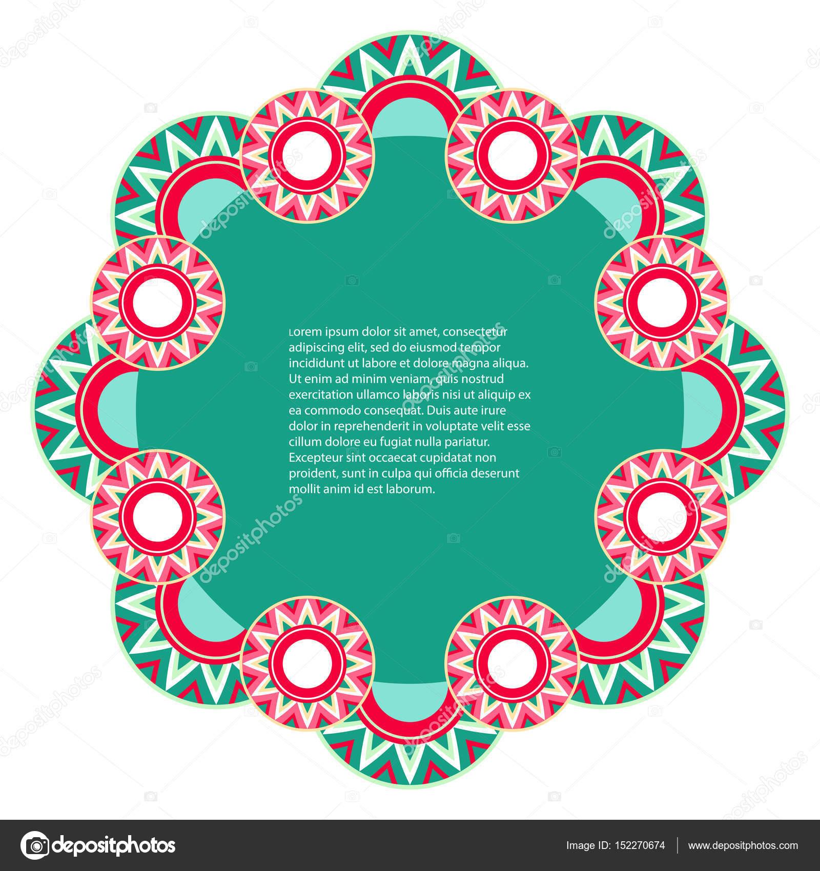 Marco con diseño geométrico sobre un fondo blanco — Vector de stock ...