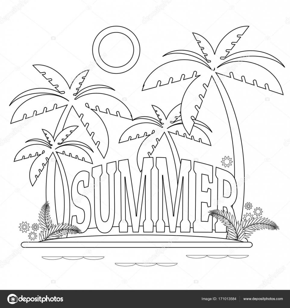 Antistress Malvorlagen Sommer — Stockvektor © Elena_AL #171013584