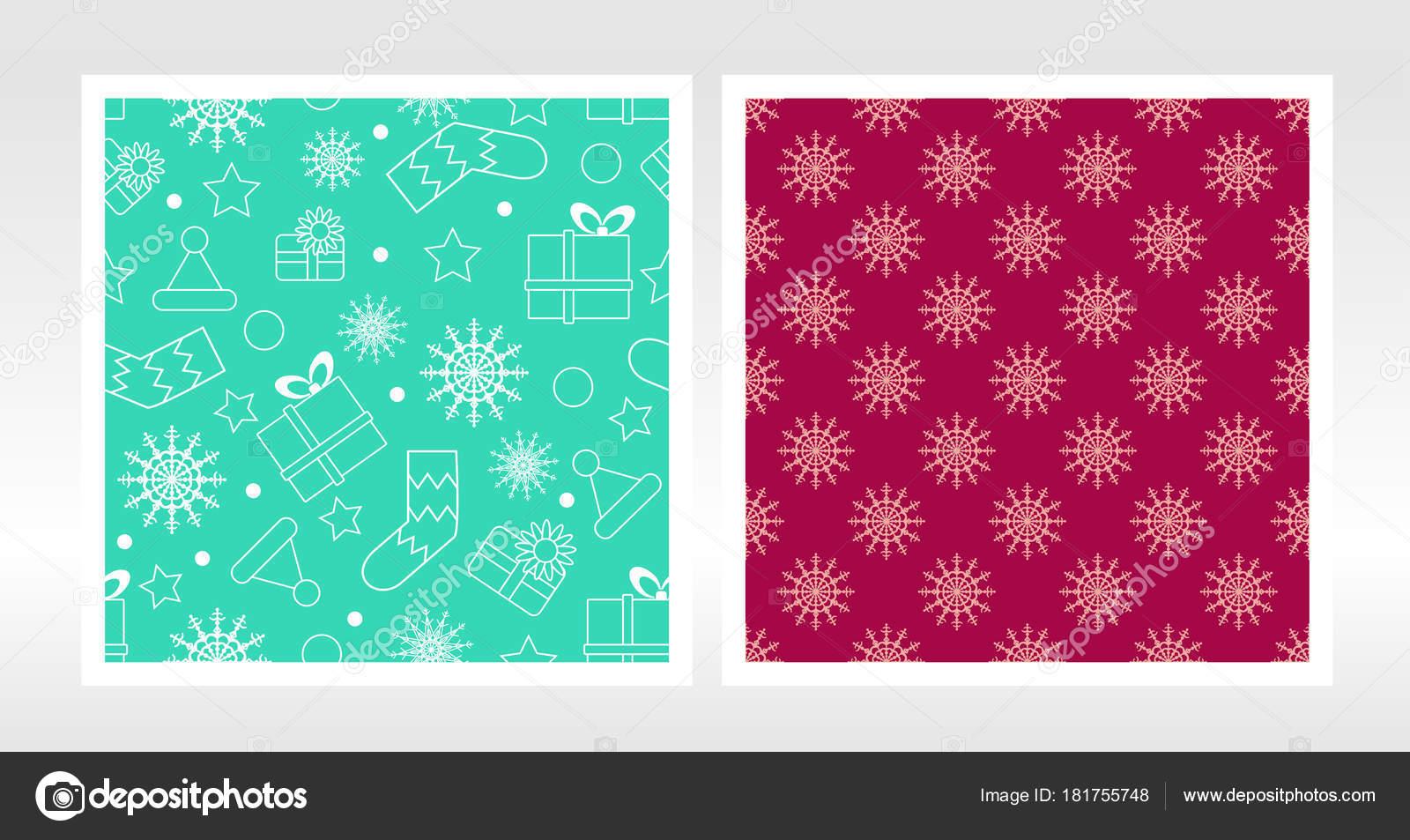 Fiocchi Di Neve Di Carta Modelli : Insieme di natale carta da imballaggio modello senza cuciture con