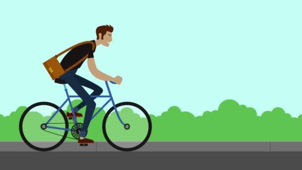 muž cyklista na kole