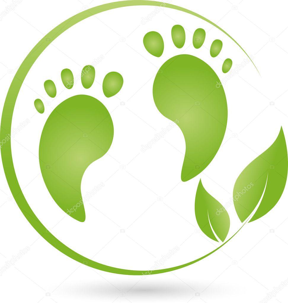 Due piedi e pianta logo pedicure vettoriali stock for Piani di studio 300 piedi quadrati