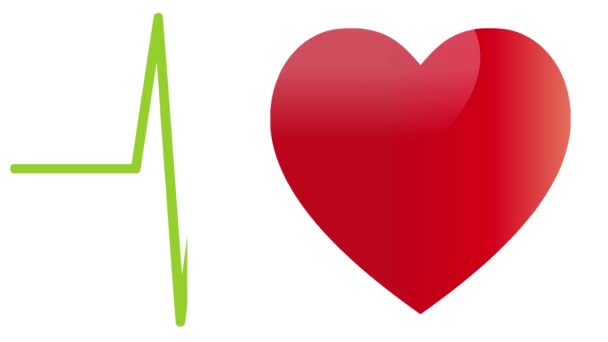 Corazón Corazón Palpitante Movimiento Vídeo De Stock Waldemar