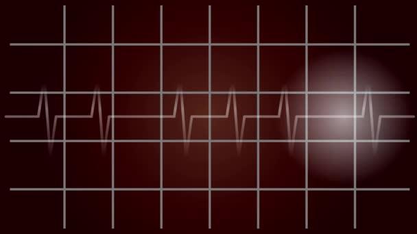 EKG diagnostika, pulsující, impuls pohybu, video