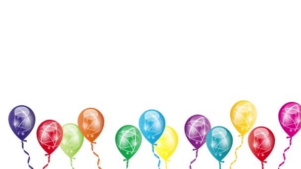 Balónky s mašlí, balónky v pohybu