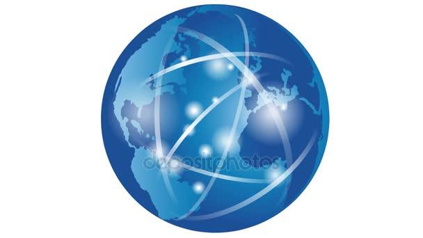 Föld, globe, globe világ, üzleti, kommunikáció, mozgás