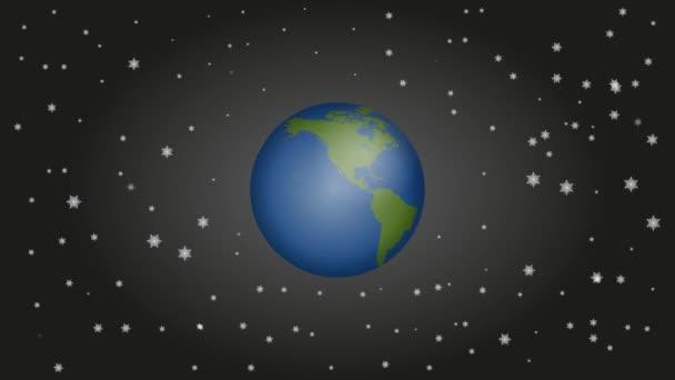 Země, zeměkoule, svět koule v pohybu, video