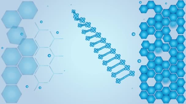 DNA, deoxyribonucleic acid, science and dna video