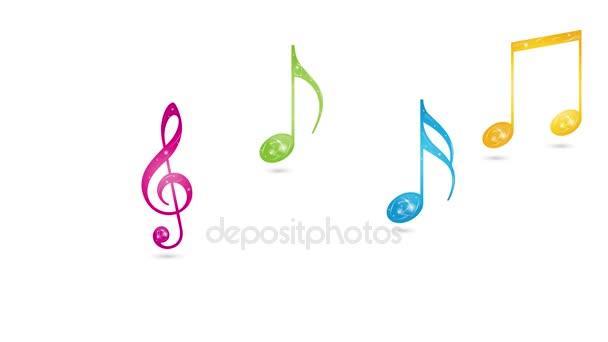 Hudba, noty, poznámky v pohybu videa