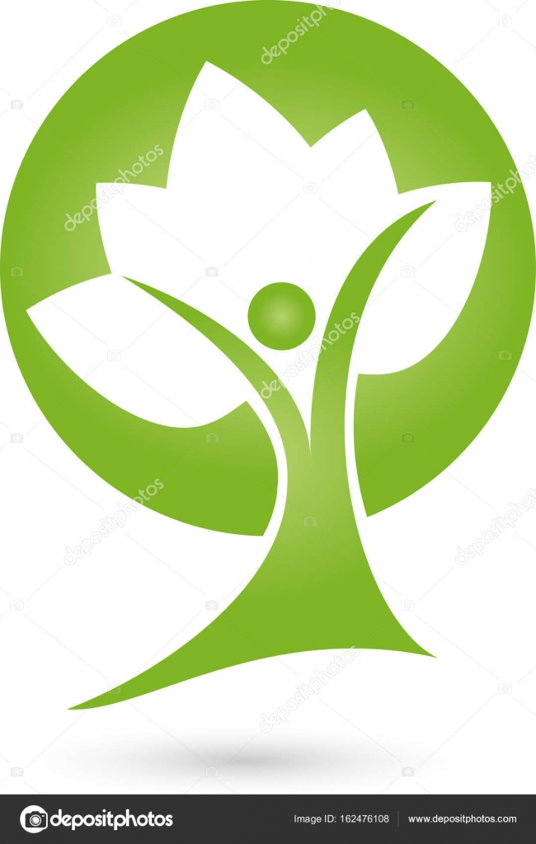Person Als Pflanze Heilpraktiker Und Gärtner Logo Stockvektor