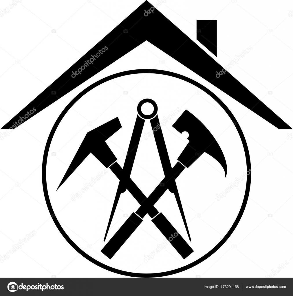 Outils de toiture et toit, toiture, étiquette autocollante image vectorielle par waldemar ...