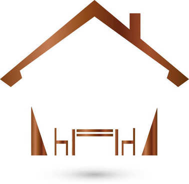 House and furniture, furniture store, logo