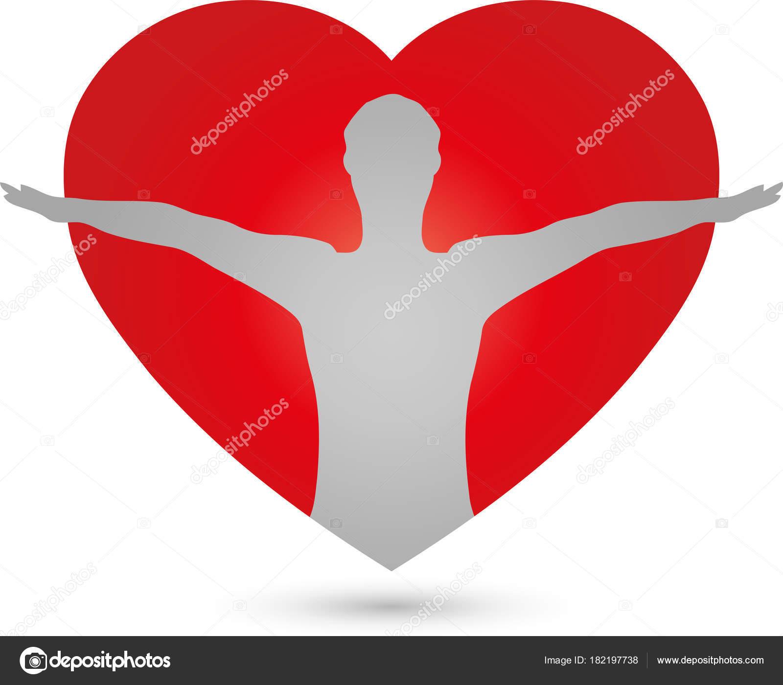 Person Und Herz Medizin Mensch Logo Stockvektor Waldemar Hoelzer