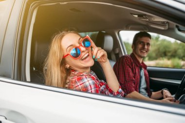 Couple sitting in the car