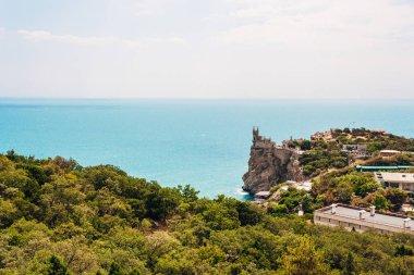 Swallows Nest on the rock over the Black Sea. Crimea. Landscape picture