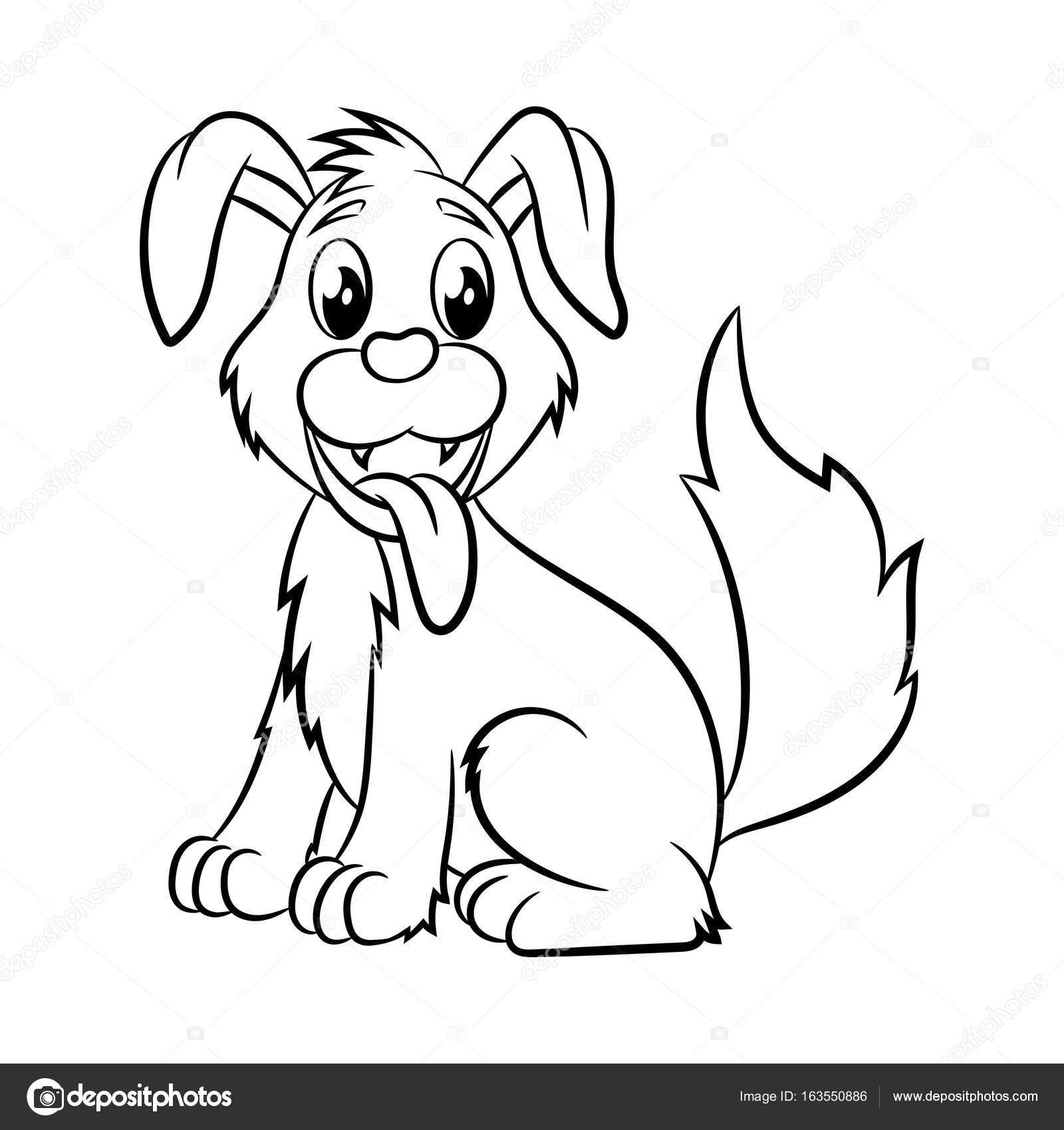 Dog coloring book. — Stock Vector © ismagilovilnaz999 #163550886