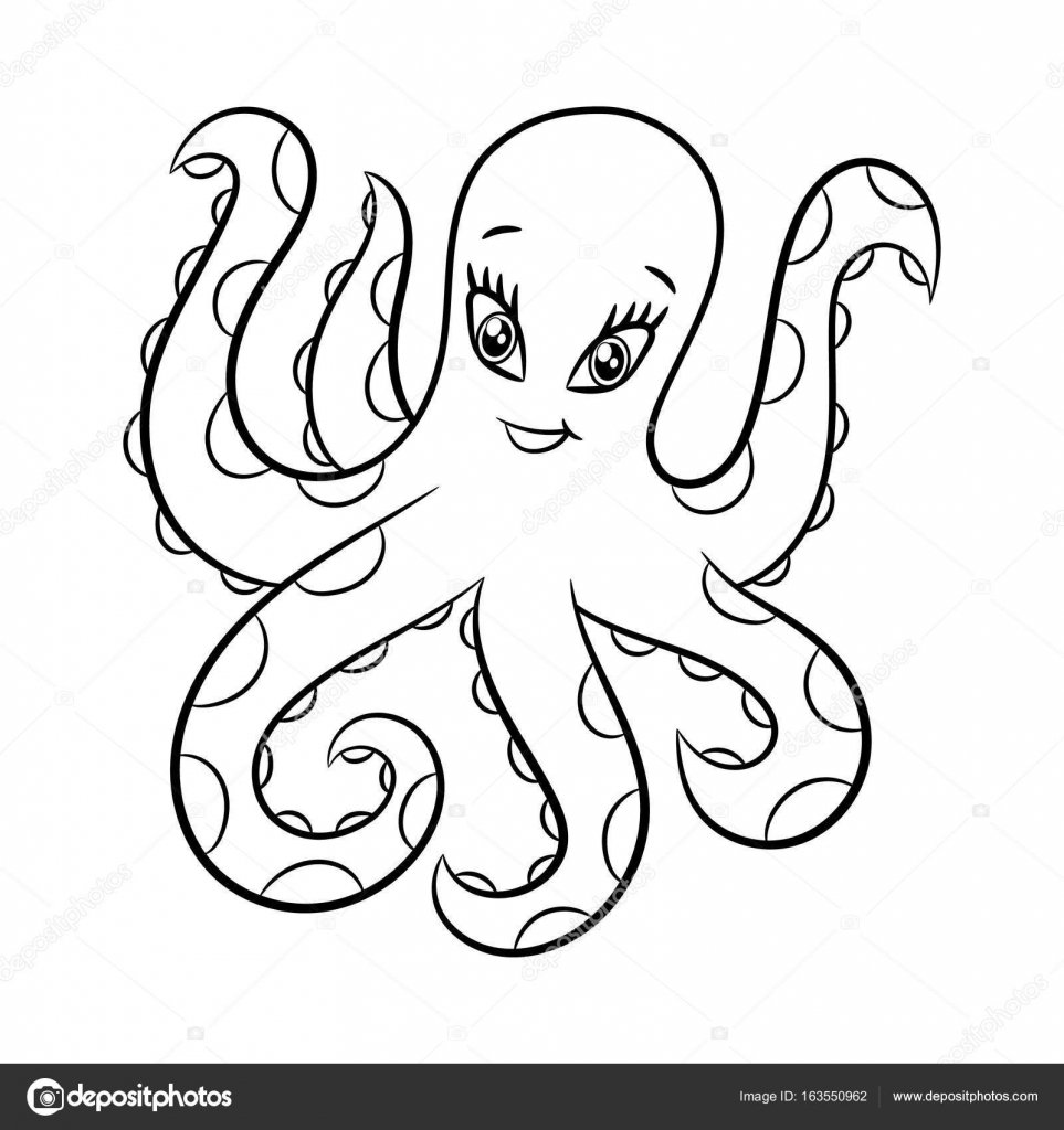 Octopus Kleurboek Stockvector C Ismagilovilnaz999 163550962