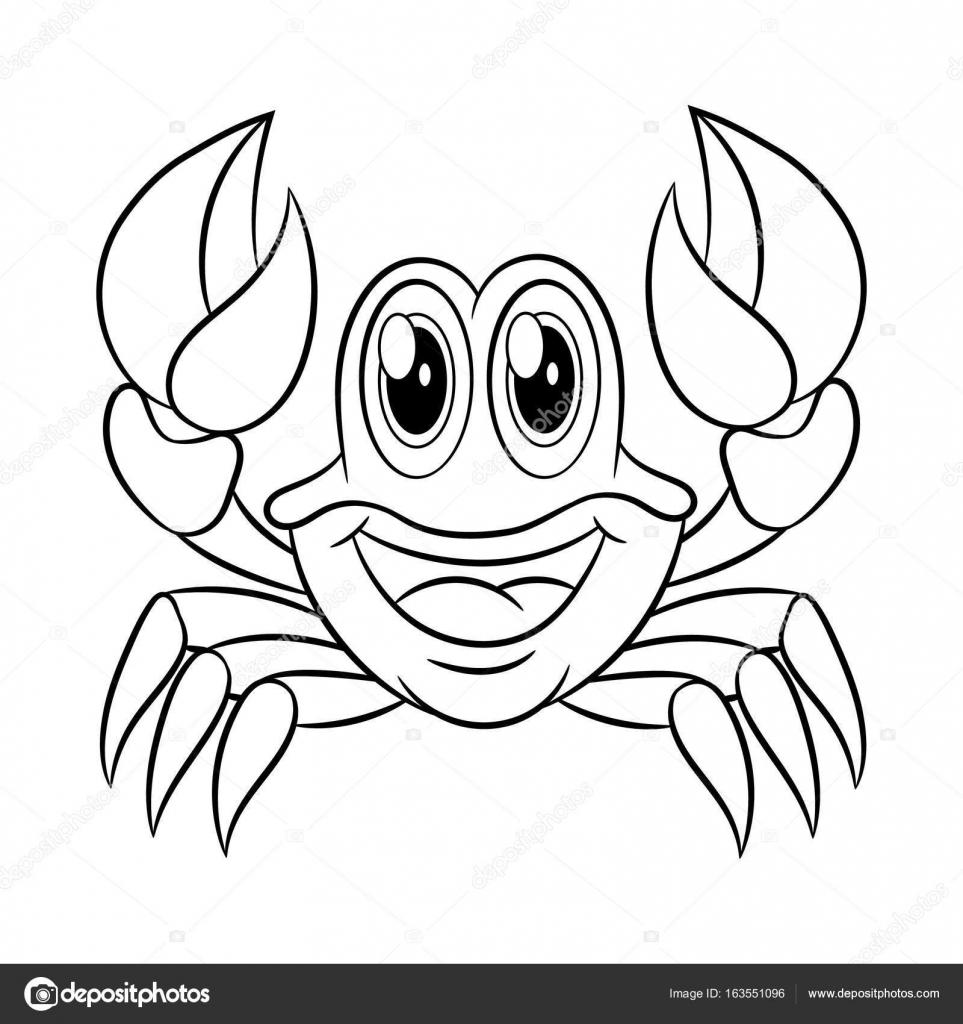 Libro de colorear cangrejo — Vector de stock © ismagilovilnaz999 ...