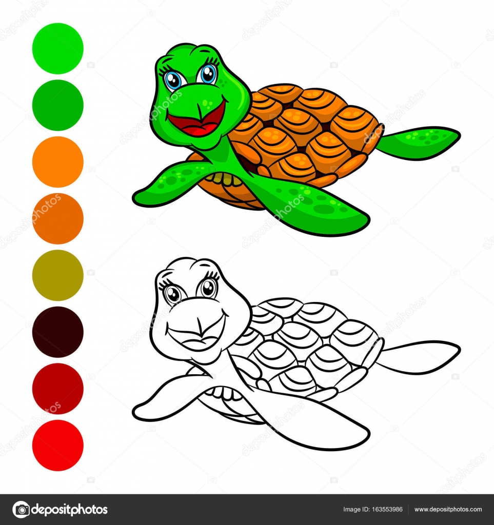 Turtles Malbuch — Stockvektor © ismagilovilnaz999 #163553986
