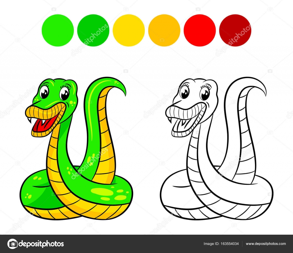 Snake coloring book. — Stock Vector © ismagilovilnaz999 #163554034