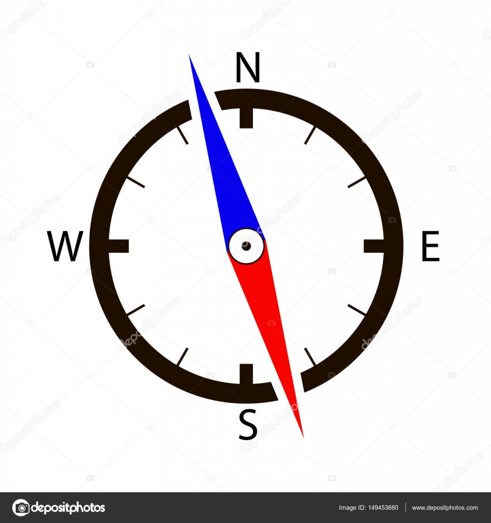 Icono de brújula vector. Flecha de la brújula. Dirección de viaje ...