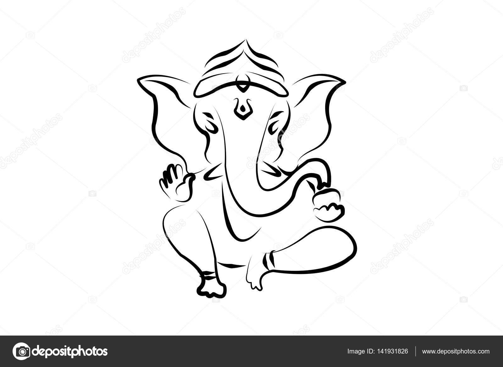 Hindu Ganesha Drawing Stock Photo C Gobba 141931826