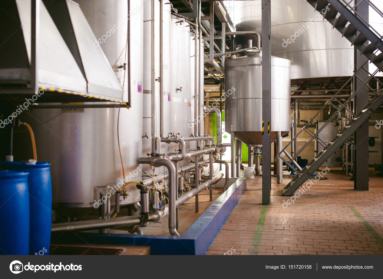 Beer manufacture line  Equipment for staged production