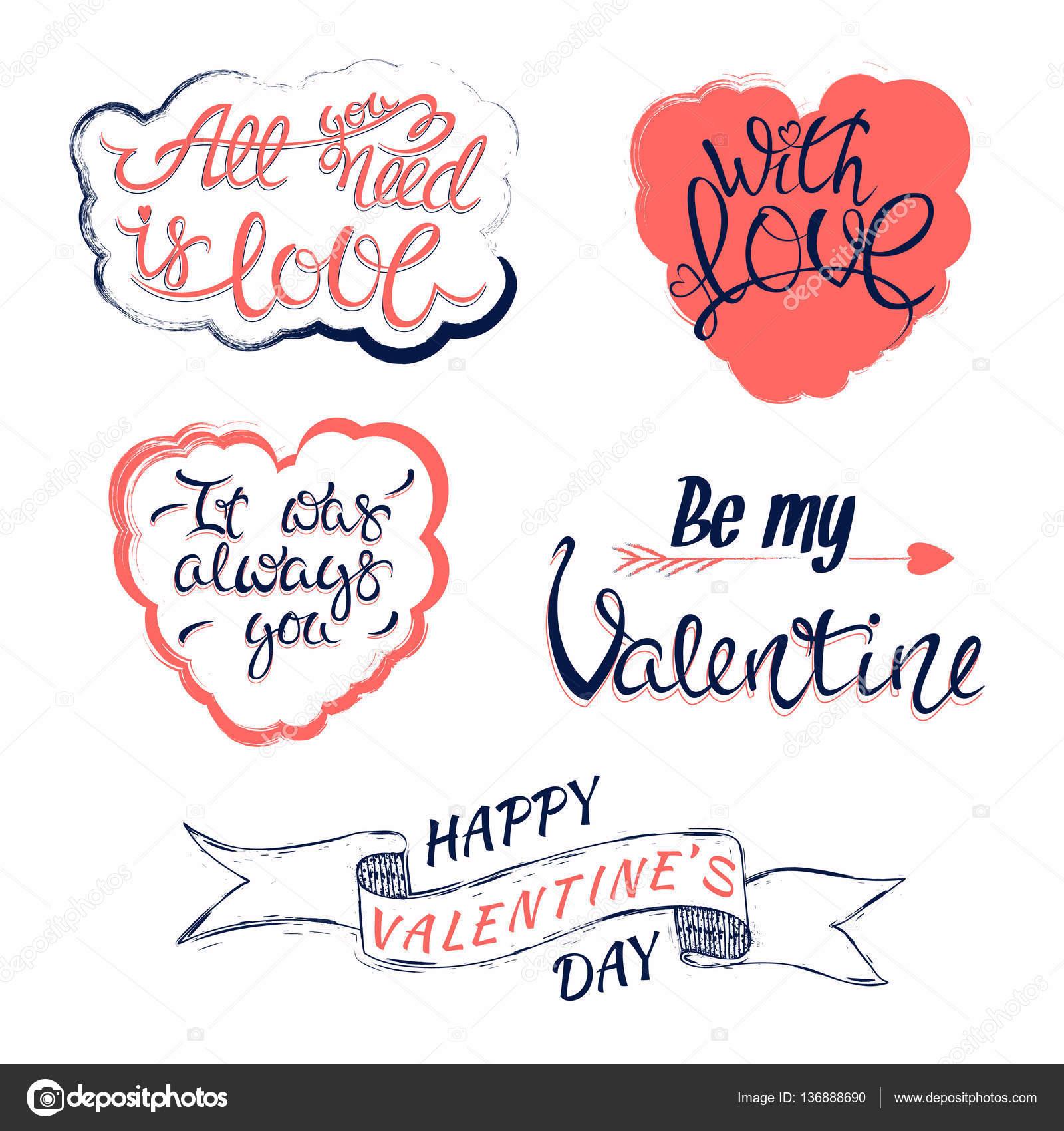 Valentines Day Elements Stock Vector C Darijashka 136888690