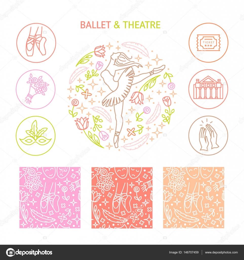 Icon: ballet   Ballet icon set — Stock Vector © darijashka