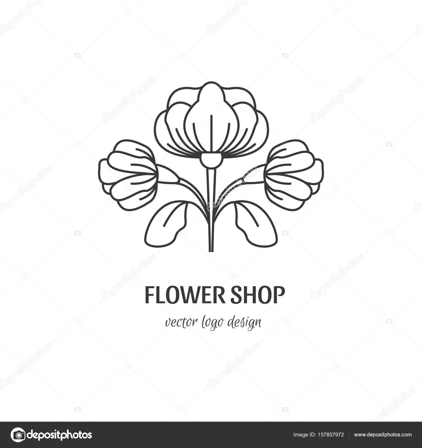 Flower shop logo stock vector darijashka 157857972 vector flower symbol line style for flower shop isolated on white background and easy to use perfect for your business clean and minimalistic symbols biocorpaavc Choice Image