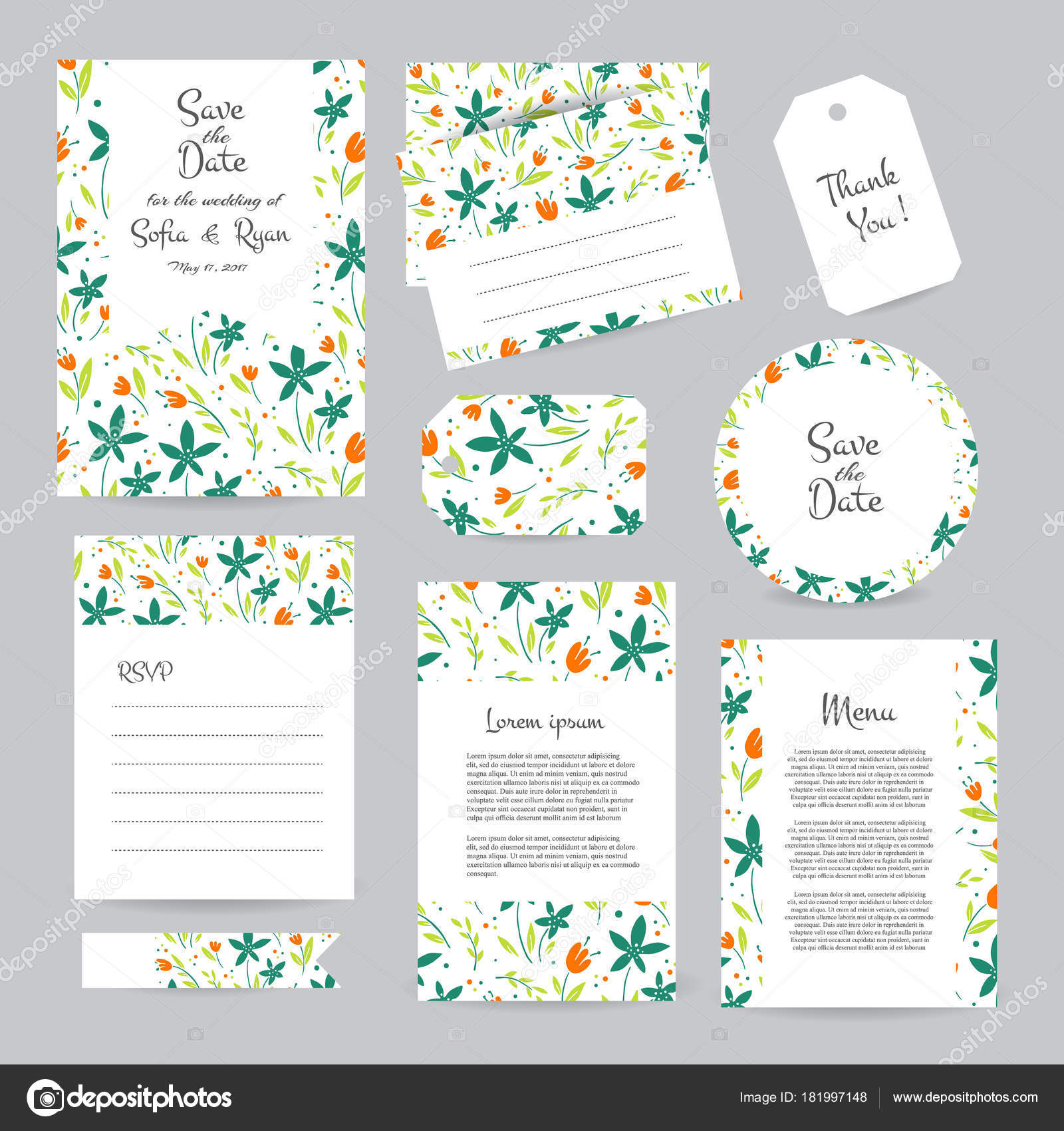 Vektor sanfte Hochzeit Karten Vorlage — Stockvektor © darijashka ...