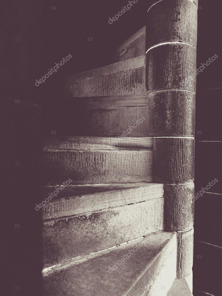 Narrow Spiral Stairs U2014 Stock Photo